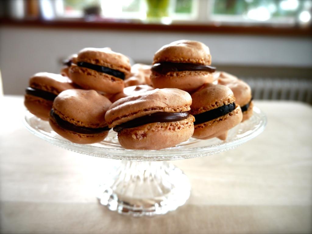 gesunde Macarons mit Schokolade Füllung